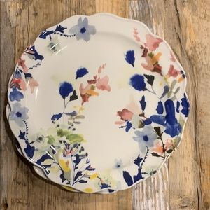 Anthropologie Floral Dinner Plate